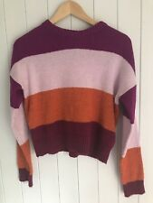 Girls Jumper Size S NEW LOOK orange Pink And Purple