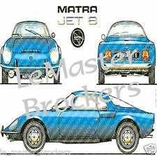 Lot TALBOT MATRA SIMCA JET/6 + 530/LX + BAGHEERA + MURENA/S + RANCHO GRAND RAID