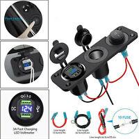 12V Car Lighter Socket Splitter Dual USB Charger Power Adapter Outlet