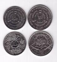 BURUNDI - 2 DIF UNC COINS SET: 10 & 50 FRANCS 2011 YEAR