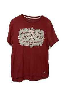 Vintage Levi's Red Graphic T-Shirt Large