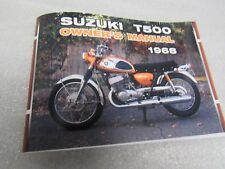 Suzuki T500 Cobra owners manual 1968