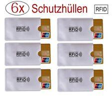 6x RFID Schutzhülle Blocker NFC Datenschutz Abschirmung EC Karte Kreditkarte