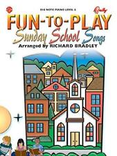 Fun-to-Play Sunday School Songs (Big Note Piano: Level 2) MUSIC BOOK-NEW ON SALE