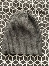 KNIT GREY BEANIE WINTER WOOL WARM UNISEX CASUAL