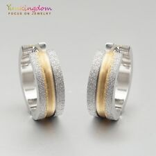 Gorgeous Mixed Color White Gold Plated Lady Ear Jewelry Hoop Earrings Ear Stud