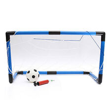 Youth Soccer Goal Net Football Sports Pump Set Outdoor Indoor Training ED