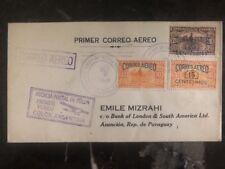 1929 Colon Panama First Flight Cover FFC To Asuncion Paraguay Via Argentina