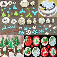 Christmas Fondant Cake Cutter Plunger Cookie Mold Sugarcraft Decorating Mould