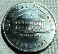 Medaille 1981 Deutschland ~> DDR - 725 Jahre Feldberg, Drostenhaus ~ st /unz