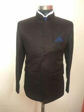 Men Black Designer Bespoke indian Ethnic Mandarin 3Pc Wedding Jodhpuri Suit US