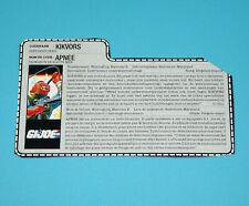 1989 GI JOE DEEP SIX v1 FILE CARD FILECARD NL FR BENELUX HASBRO