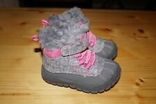 Garanimals Gray Pink Faux Fur Lined Boots Girls Toddlers Infants Size 4