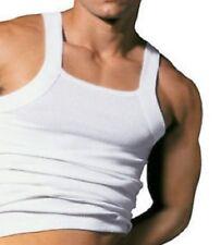 Designer Cut Mens 100% Organic cotton Ribbed vest Cotton Vests Vest gym fitted