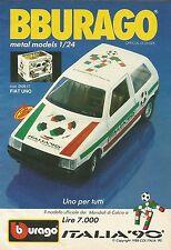 X1173 BBURAGO - FIAT UNO Italia '90 - Pubblicità 1989 - Advertising