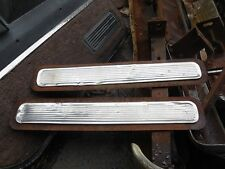 1957 Mercury rear bumper stainless inserts and plates