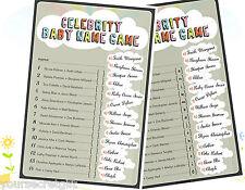 Celebrity Baby Name Juego-Baby Shower Juego Para 10 Personas + Hoja De Respuestas