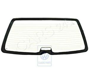 Genuine Volkswagen Rearview Window Heated With Aerial Green NOS 333845499E