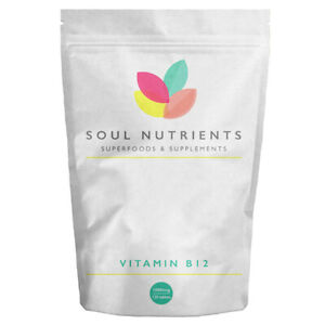 Vitamin B12 1000mcg High Strength 120 Tablets UK Manufactured- Vegan Friendly- 1
