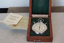 Vintage Soviet Slava Chronometer Stopwatch in original Wooden Box Russian