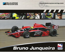2008 Bruno Junqueira Z-Line Designs Honda Dallara Indy Car postcard