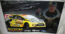 TANNER FOUST #34 Signed  Rockstar Ford RALLY Poster - X-Games