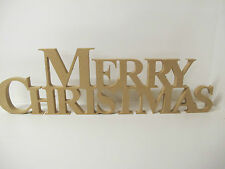 'Merry Christmas' Joint Freestanding Wooden Letters 18mm