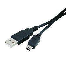 1 metre USB 2 Cable A to Mini B 5 pin MP3 Camera PSP Lead 1 m