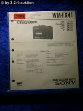 Sony Service Manual WM FX41 Cassette Player (#3801)