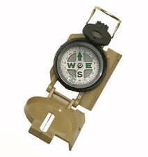 Rothco 405 Tan Military Marching Compass - Liquid Filled