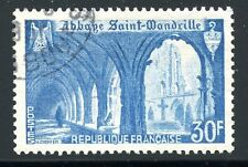 TIMBRE FRANCE OBLITERE N° 888 ABBAYE SAINT WANDRILLE / COTE 5 €
