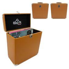 "3x Gorilla LP-45 12"" Vinyl Record Protective Storage Case Retro Style Tobacco"