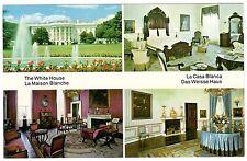 WHITE HOUSE LA CASA BLANCA LA MAISON BLANCHE DAS WEISSE HAUS WASH. D.C. POSTCARD