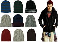 AERO AEROPOSTALE Mens logo Knit Winter Hat Beanie Cap Ski Toque Multiple Styles~