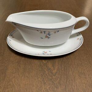 Princess House Heritage Blossom pattern Gravy Boat Saucer Plate Tray Porcelain