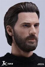 JXTOYS-026 1/6 Soldier Avenger Captain America Head Sculpt Model Male Figure Toy