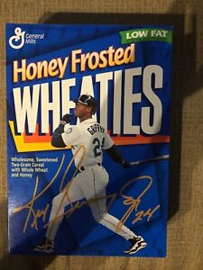 Ken Griffey Jr. Honey Frosted Wheaties Cereal Box Seattle Mariners 1996 (Empty)