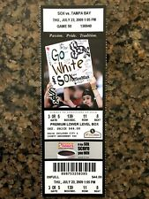 MARK BUEHRLE PERFECT GAME TICKET CHICAGO WHITE SOX COLLECTIBLE JULY 23 2009