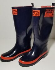 MINI COOPER OFFICIAL GENUINE SOLD OUT RARE RAIN BOOTS UNION JACK LINED SZ 5 ~ 36