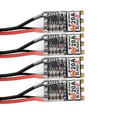 4pcs Brushless 2-4s Lipo BLHeli 20A ESC For QAV FPV 250 280 Six Quadcopter US