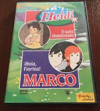 HEIDI EL GATO ABANDONADO - MARCO HOLA FLORINA - VOL 24 - DVD - NEW SIN EMBALAR