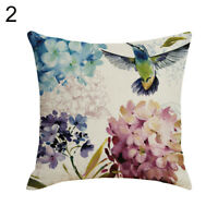 FP- Hummingbirds Flower Pattern Pillow Case Cushion Cover Home Sofa Decor