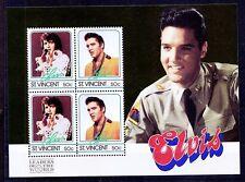 Elvis Presley, Music, Singer, St. Vincent MNH SS b