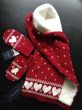 Tommy Hilfiger Schal Handschuh Set Mädchen MINI 5-6 Jahre rot one size (S/M) NEU
