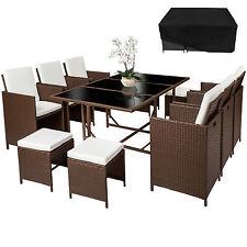 Conjunto muebles de jardín terraza ratán sintético sillas taburetes mesa mixto