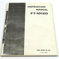 YAESU FT-101ZD INSTRUCTION MANUAL User Operating Technical Guide: HAM RADIO XCVR