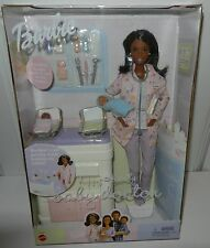 DR. BARBIE Doctor DOLL 2 BABY ROCKING TABLE Black American HAPPY FAMILY Midge Dr