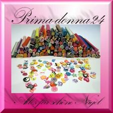 50 Fimostangen gemischt Nail-Art FIMO Stangen ca. 4,5cm x 5mm