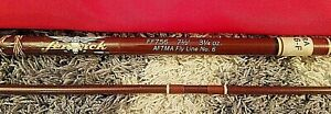 Vintage Fenwick FF756 7-1/2' Aftma 2pc Fiberglass Fly Rod No.6 W/Tube Sock *NR*
