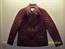St. Johns Bay Misses M Bordeaux Quilted Lt Wt Everyday Jacket FREE Shpg NWTA